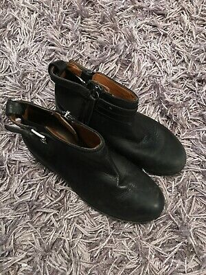 Zara Girls Black Ankle Boots Size 30 (12 Kids) Vgc