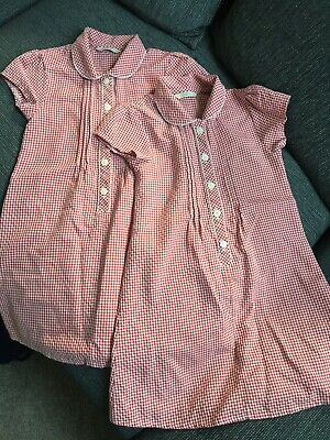 Girls Red School Uniform Summer Dresses . Age 6. Marks And Spencer x 2