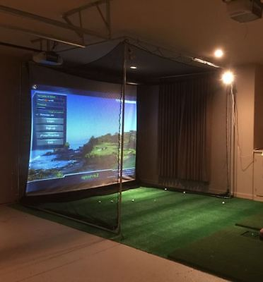 NEW Golf Simulator System w/Projector for YOUR BallFlight,Skytrak, ES14, RMotion