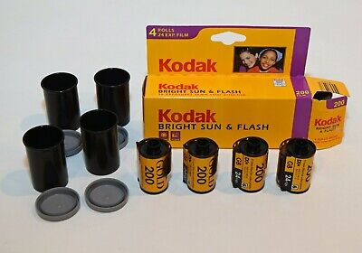 Kodak Bright Sun & Flash 200 Gold 35 mm Film 24 Exp 4 Rolls Box  EXP 7/03