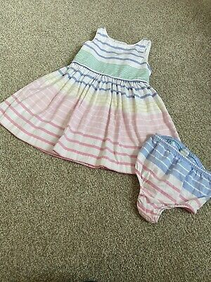 Ralph Lauren Baby Girl Dress Size 12 Months - Pastel Colors