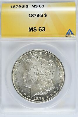 Early Date Coin PCGS MS 63 1879-S Morgan Silver Dollar