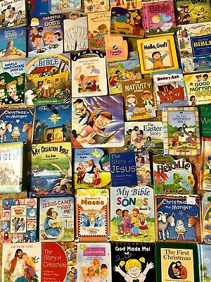 Lot of 10 Christian Board Books for Young Children About Jesus, Bible, Moses...