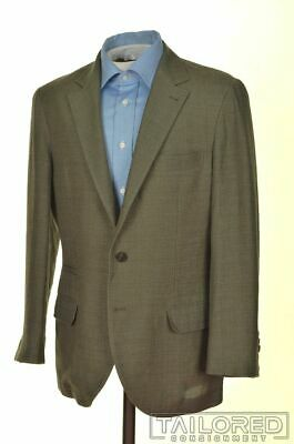 BRUNELLO CUCINELLI Green SILK LINEN WOOL Blazer Sport Coat - EU 48 / US 38 S