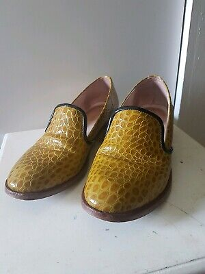 Gorman Mustard Leather Brogues Size 38
