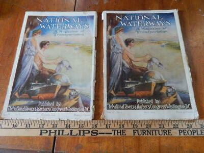 National Waterways, A Magazine of Transportation, 1913, 2 Issues!
