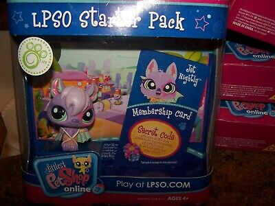 Littlest Pet Shop Lpso Purple Vampire Bat #1695 Jet Nightly Nib Rare
