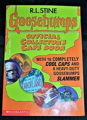 Goosebumps Official Collector's Caps Book, R L Stine, Scholastic, Pogs Slammers