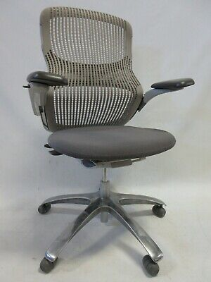 Knoll Generation Ergonomic Office Chair in Grey - Fully Adjustable with Aluminum