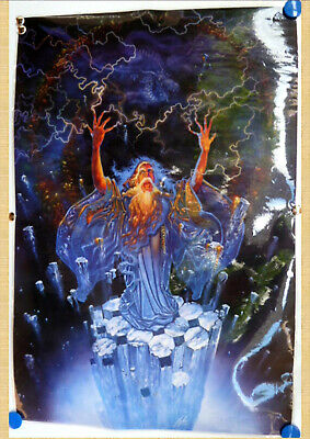 WIZARD AND DRAGON POSTER 60cm x 90cm…LAMINATED...#
