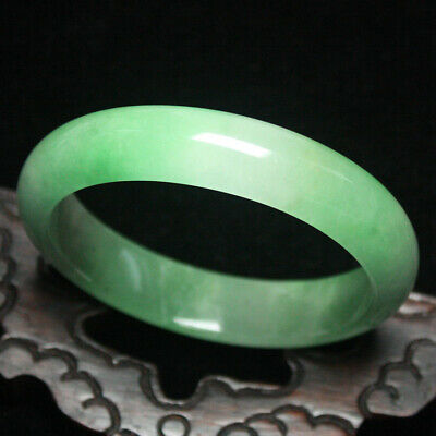 59mm Certified (Grade A) Natural Green Jadeite JADE Bracelet Bangle 1935