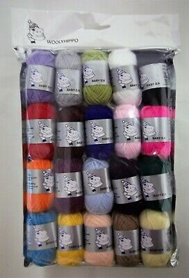 Woolyhippo DK Craft Balls Pack  20 x 10g balls mixed colours