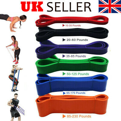 Heavy Duty Resistance Bands Loop Power Gym Home Fitness Exercise Yoga Workout