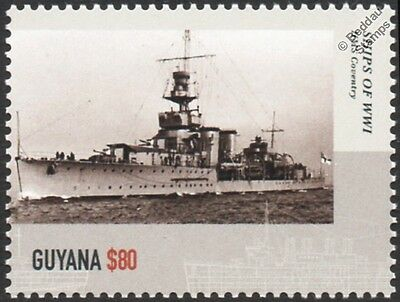 HMS COVENTRY (D43) C-Class Light Cruiser WWI Royal Navy Warship Stamp