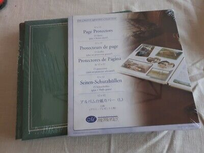 Creative Memories Sage Green Album with Pages + Page Protectors 12 x 12