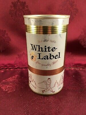 WHITE LABEL  12 oz Beer Can 1975 Grain Belt Breweries, Inc.  with TAB