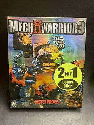 *NEW* FACTORY SEALED OLD STOCK MechWarrior 3 (PC, 1999) BIG BOX COMPLETE