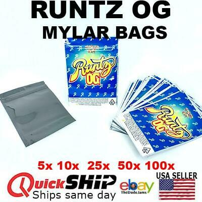 1//2 oz Bags *FREE QUICK SHIPPING* Pink Runtz Mylar Bags Empty Candy14g