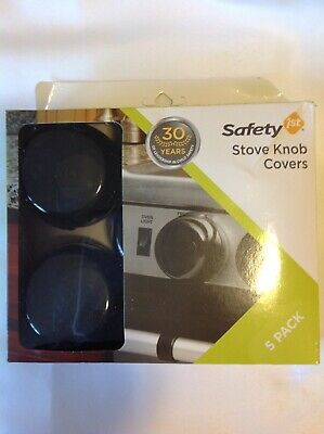 Safety 1st First Child-Proof Black Universal Design Stove Knob Covers (Set of 5)