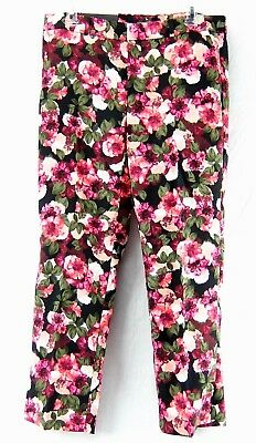 Banana Republic Womens Crop Pants Avery Floral Flat Front Size 8 10 14 16