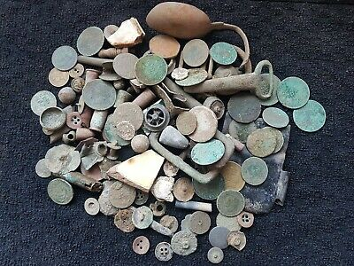 Metal detecting finds job lot Unresearched 1