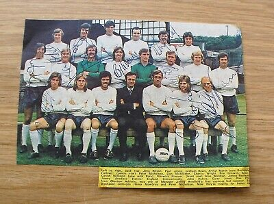 Bolton Wanderers 1971/72 Hand Signed Autographs Mowbray Wright Greaves Rimmer