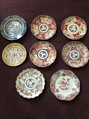 Lot of 8 Antique (XVIII & XIX centuries) Chinese and Japanese plates