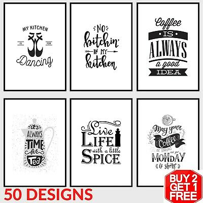 Kitchen Prints Wall Art Pictures Funny Inspirational Quote Sayings Poster Home