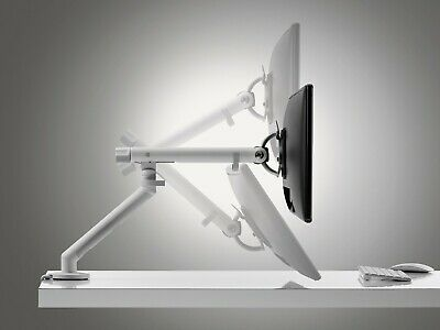 CBS Flo Monitor Arm - WHITE With Clamp mount