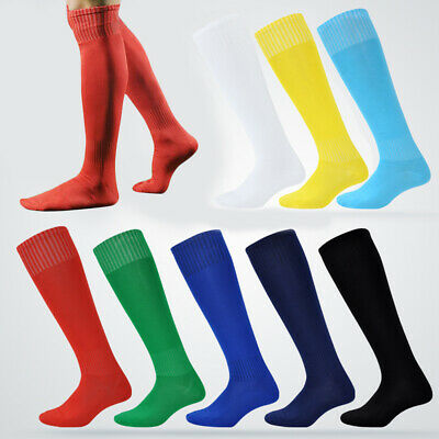 Hockey Long Thigh High Football Socks Solid Stockings Rugby Sports Men Over Knee