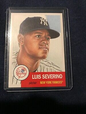 2018 LUIS SEVERINO Topps Living Baseball Set Card #115 New York Yankees NY