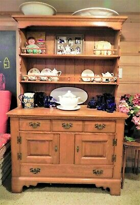 ORIGINAL CUSHMAN COLONIAL MAPLE BUFFET/HUTCH made by the CUSHMAN FURNITURE CO.