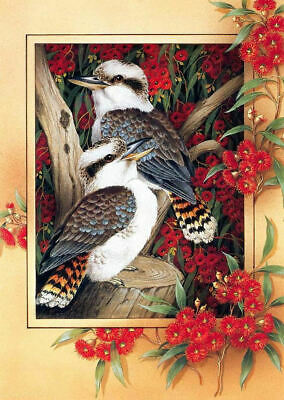 Kookaburra cross stitch chart