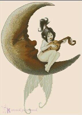 Moon Music Fairy cross stitch chart