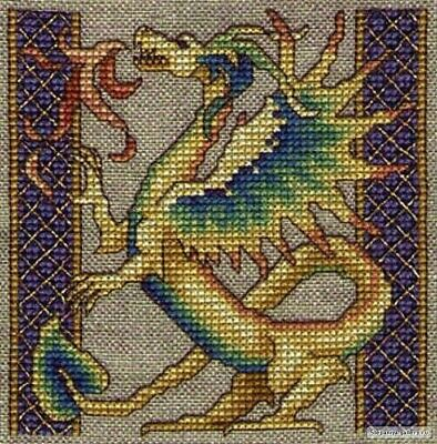 Dragon Rampant cross stitch chart