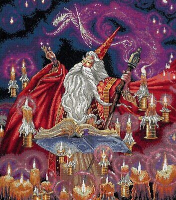Scarlet Wizard cross stitch chart