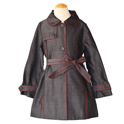 Tocca Girls Spring Summer Chambray Light Weight Jacket Size 5 New