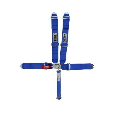 Crow 11003 Bolt-In 5-Point Racing Harness, Pull Down, Blue
