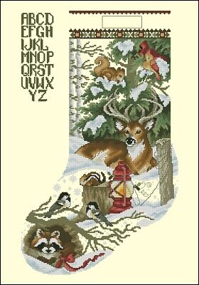 Winter Wonderland Christmas Stocking Cross Stitch Chart