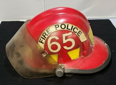 Cairns & Brother METRO Firefighter Police Fire Red Helmet W/Shield