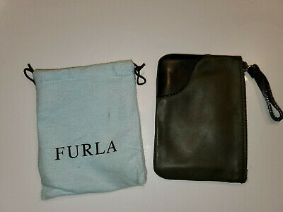 Furla leather wristlet slim clutch handbag-with dustcover-NWOT