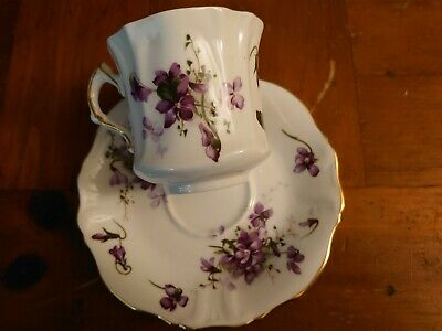 Hammersley Englands Countryside Victorian Violets Tea Cup And Saucer Bone China