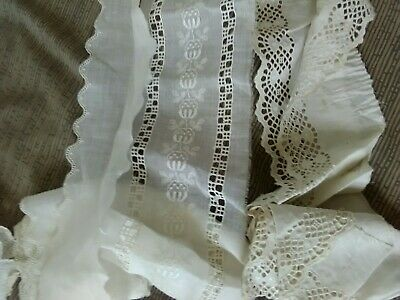 RARE ESTATE LOT ANTIQUE Bedspreads,Lace ,negligees.silk. STUNNING