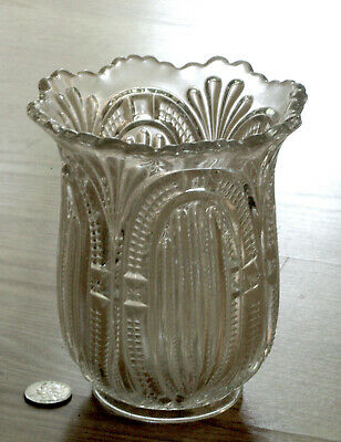 EAPG antique ADMIRAL glass CELERY VASE Bryce Higbee & Co. 1899 RIBBED ELLIPSE