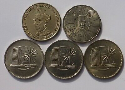 Malaysian 1 Ringgit X 5. 1971 X3 1959 &1976 Commemoratives.