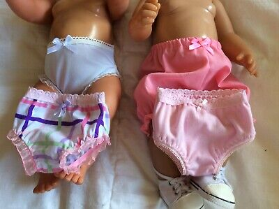 "Doll Clothes to fit 17"" Baby Born doll ~ 4 X Knickers / Undies"