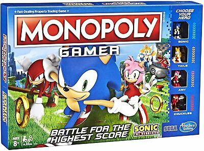 Monopoly Gamer: Sonic The Hedgehog Battle Edition Board Game - Brand New