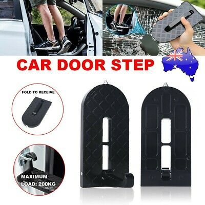 Car SUV Door Step Doorstep Vehicle Access Roof Rooftop Pedal Latch Hook Ladder