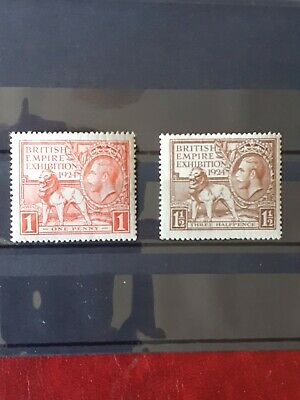 Gb Kgv British Empire Exhibition Stamps Mint 1924 V.tidy