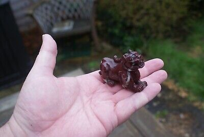 Vintage Chinese Dragon/ Dog of Fu Carved Red Stone/ Onyx ?